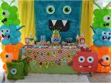 Cute Monster Birthday Party Decorations Manualidades Para Fiestas Y Cumpleanos