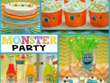 Cute Monster Birthday Party Decorations Monster Party It 39 S A Monster Birthday Bash Mimi 39 S Dollhouse