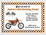 Cycling themed Birthday Cards Dirt Bike Birthday Party Invitations Dolanpedia