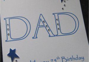 Dad 75th Birthday Card Personalised Handmade 40th 50th 60th