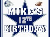 Dallas Cowboys Birthday Party Invitations 12 Printed Dallas Cowboys Football thenotecardlady