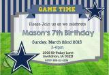Dallas Cowboys Birthday Party Invitations Dallas Cowboys Birthday Invitation Custom Digital File