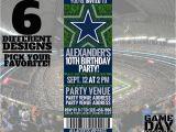 Dallas Cowboys Birthday Party Invitations Dallas Cowboys Birthday Invitation Printable by