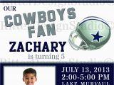Dallas Cowboys Birthday Party Invitations Dallas Cowboys Football Birthday Invitation Digital File