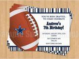 Dallas Cowboys Birthday Party Invitations Dallas Cowboys Football Birthday Party Invitations Sports
