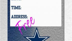 Dallas Cowboys Birthday Party Invitations Dallas Cowboys Kids Invitations A Birthday Cake