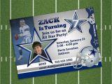 Dallas Cowboys Birthday Party Invitations Dallas Cowboys Nfl Printable Personalized Birthday Party