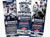 Dallas Cowboys Birthday Party Invitations Dallas Cowboys Ticket Birthday Party Invitation Football