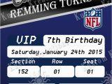 Dallas Cowboys Birthday Party Invitations Nfl Dallas Cowboys Birthday Invitation Kustom Kreations