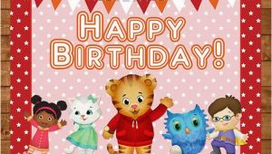 Daniel Tiger Birthday Card Daniel Tiger Happy Birthday Sign Red Stars Daniel Tiger