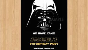 Darth Vader Birthday Invitations Darth Vader Invitation Star Wars Birthday Invitation Star