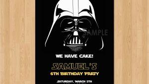 Darth Vader Birthday Invitations Darth Vader Invitation Star Wars Birthday Invitation Star