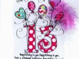 Daughter 13th Birthday Card Card Age 13th Birthday Pink Balloons Card Ideas