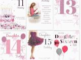 Daughter 13th Birthday Card Daughter 11th 12th 13th 14th 15th or 16th Birthday Card