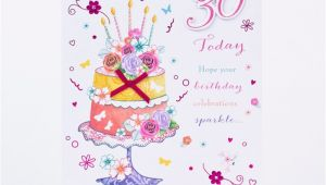 Daughter 30 Birthday Card 30th Birthday Card Floral Cake Daughter Only 1 49