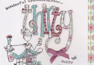 Daughter 30 Birthday Card Hand Finished Granddaughter 30th Karenza