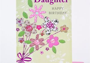 Daughter Birthday Cards Online Card Patterned Flowers Only 99p