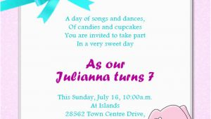 Daughter Birthday Invitation Sms Birthday Message for Daughter Turning 7 First Birthday