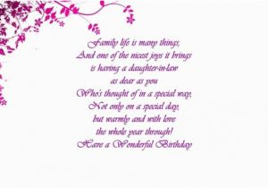 Daughter In Law Birthday Cards Verses Card Greetings