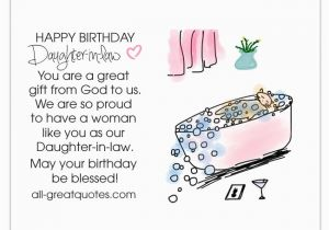 Daughter In Law Birthday Cards Verses Happy Free