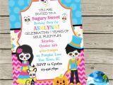 Day Of the Dead Birthday Invitations Book Of Life Sugar Skulls Birthday Party by Coastalinvitations