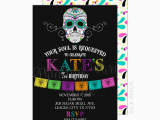 Day Of the Dead Birthday Invitations Day Of the Dead Birthday Party Invitation