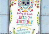 Day Of the Dead Birthday Invitations Day Of the Dead Invitation Dia De Los Muertos Invitation