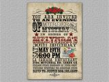 Day Of the Dead Birthday Invitations Items Similar to Western Birthday Invitation Day Of the