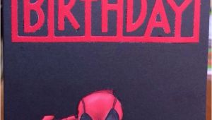 Deadpool Happy Birthday Card Deadpool Card Rellb the Creative Mum the Creative