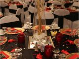 Decor Ideas for 50th Birthday Party Red Black and Gold Table Decorations for 50th Birthday