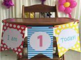 Decorate High Chair 1st Birthday Blue Boy 39 S 1st Birthday High Chair Decorating Kit Set Baby