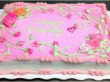 Decorated Birthday Cakes at Walmart Pink Rose Sheet Cake Decorated by Leslie Schoenecker at
