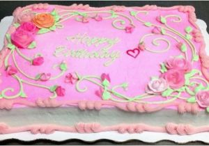 Decorated Birthday Cakes At Walmart Pink Rose Sheet Cake By Leslie Schoenecker