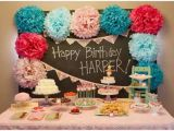 Decorating Ideas for Baby Girl Birthday Party Baby Girl First Birthday Party Decorations at Home Ideas