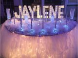 Decoration for 15 Birthday Party Candle Ceremony Set Up Winter Wonderland Sweet 16