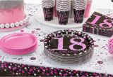 Decoration for 18th Birthday Party Pink Sparkling Celebration 18th Birthday Party Supplies