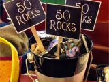 Decoration for 50 Years Old Birthday 50 Rocks Birthday Present Ideas for 50 Year Old