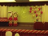 Decoration Ideas for 70th Birthday Party 70th Birthday Party Decoration Ideas Balloon Decorations
