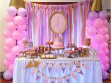 Decoration Ideas for Princess Birthday Party Pink and Gold Princess Birthday Party the Iced Sugar Cookie