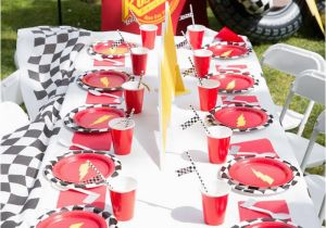 Decoration Ideas Lightning Mcqueen Birthday Party Kara 39 S Party Ideas Lightning Mcqueen Ka Chow Birthday