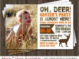Deer Hunting Birthday Invitations Deer Hunting Birthday Invitation Camo by Puggy Prints