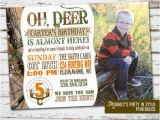 Deer Hunting Birthday Invitations Hunting theme Birthday Invitation with Photo by Meghily