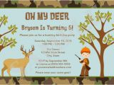 Deer Hunting Birthday Invitations Items Similar to Hunting Camo Deer Birthday Party