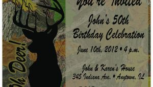 Deer Hunting Birthday Invitations Tree Camo Deer Hunting Printable Birthday Invitations 30th
