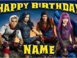 Descendants 2 Happy Birthday Banner Disney Descendants 2 Happy Birthday Name Custom Birthday