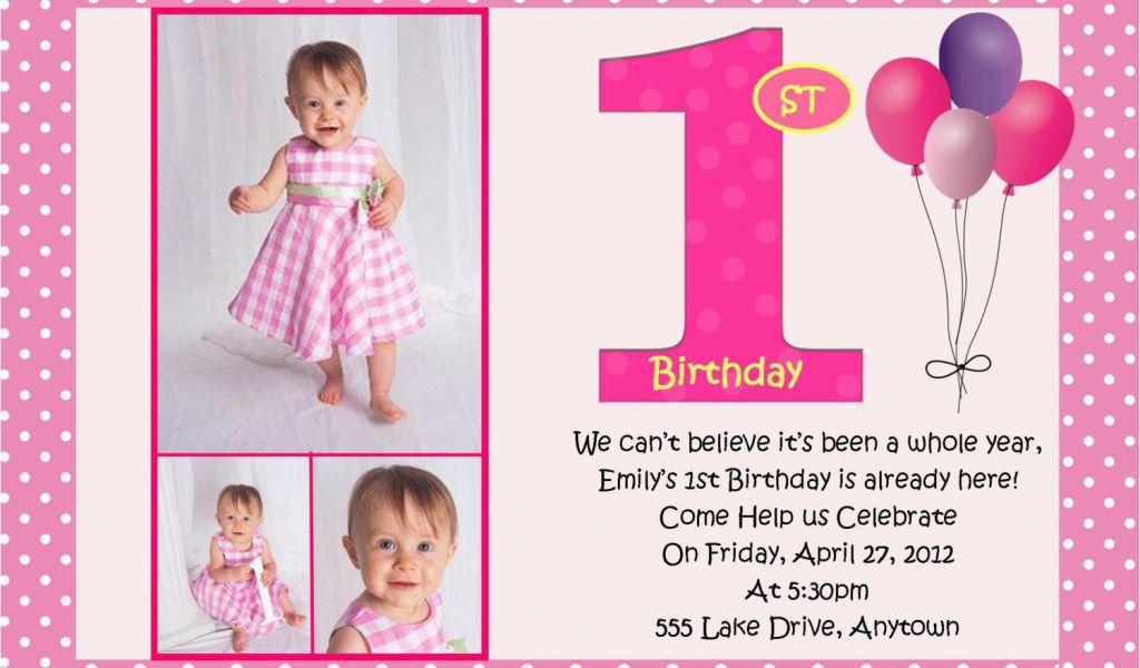 Design 1st Birthday Invitations Free Invitation
