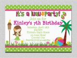 Design and Print Birthday Invitations 20 Luau Birthday Invitations Designs Birthday Party