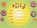 Design and Print Birthday Invitations Free Free Printable Party Invitations Online Cimvitation