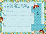 Design Birthday Invitations Online to Print 1st Birthday Invitation Template Free Printable