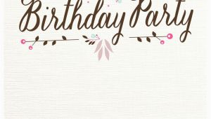 Design Birthday Invitations Online to Print Flat Floral Free Printable Birthday Invitation Template